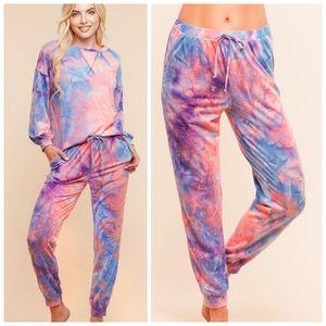 Tie-dye jogger pants